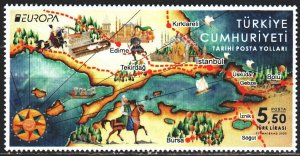 Turkey. 2020. Postal routes, horse, europe-sept. MNH.