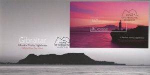 Gibraltar 1108 FDC cover lighthouse landscape (2110 158)
