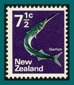 New Zealand 1970 Garfish, 7.5c MNH  #447,SG923