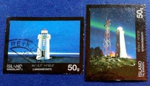 Iceland Lighthouse Stamps Scott # 1228-9 Used (I954)