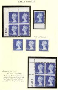 GB 1969-72 Machin Study - all unmounted mint or FU
