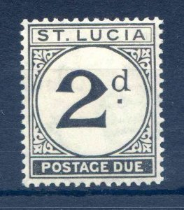 St Lucia 2d Postage Due SGD4 Mounted Mint