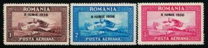 ROMANIA C7-C9 MINT LH 1930 AIRPLANE