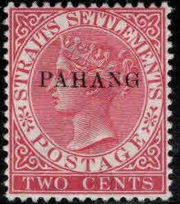 MALAYA-Pahang Scott 4 MH* 12.5x 2mm overprint