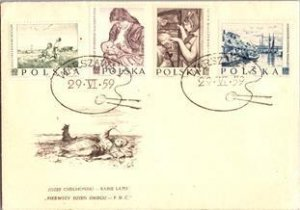 Poland, Worldwide First Day Cover, Art