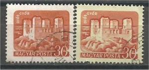 HUNGARY, 1960, used 30f, Castle, Scott 1284, 1284a