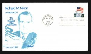 1973 Nixon Inauguration Cover - Fleetwood Cachet - Z14224