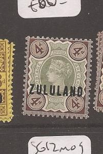 Zululand on GB SG 6 MOG (3azs)