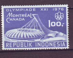 J21075 Jlstamps 1976 indonesia set of 1 mh #971 olympics