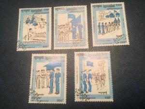ICOLLECTZONE Cambodia #1189-93 Sports Olympics XF Used  (Bk1-30)