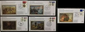 GB 1990 Gallantry Awards VC  Benham BS38-42 Limited Edition Silk Cover FDC