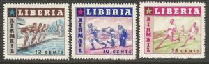 LIBERIA C88-90 MNH SPORTS I339