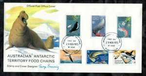 c020 - AUSTRALIAN ANTARCTIC TERRITORY 1973 FDC Cover. Sea Lion Cachet