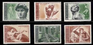 Russia Scott 4296-4301 MNH** Michelangelo set
