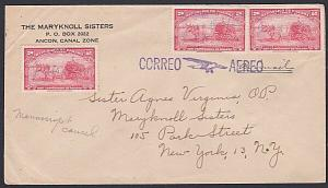 PANAMA 1948 Airmail cover MANUSCRIPT cancel of CERRA PUNTA to USA..........87793