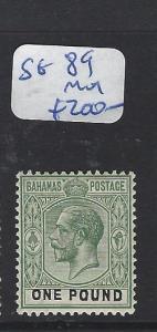 BAHAMAS (P0802B)  KGV  L1  SG 89   MOG