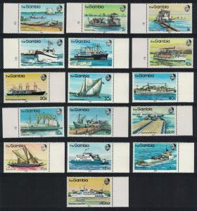 Gambia River Craft Ships 16v SG#494-509