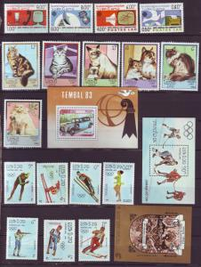 Z475 Jlstamps 1983-4 laos sets & s/s mhr #505-8,493-98,466,509-16,553 topicalss