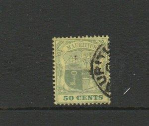 Mauritius 1900/05 Wmk CC, 50c FU SG 152