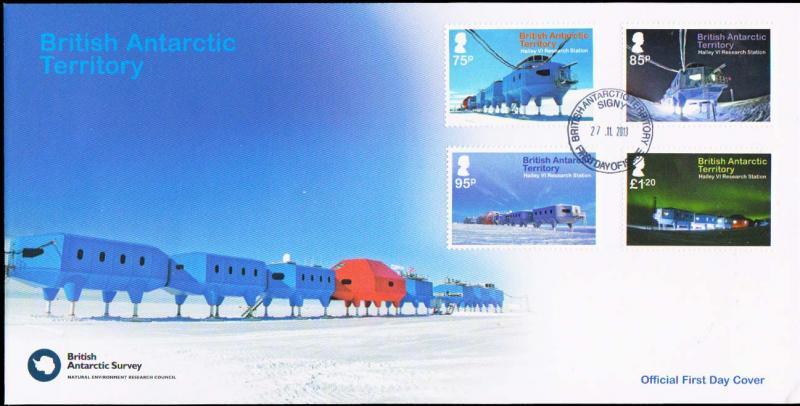 British Antarctic Territory Scott 462-465 Unaddressed.