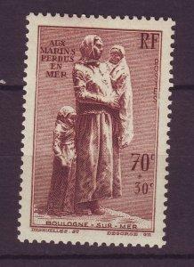 J24607 JLstamps 1939 france set of 1 mh #b93 statue