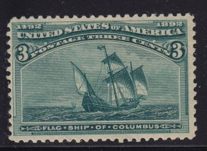 232 F-VF+ original gum never hinged with nice color cv $ 100 ! see pic !