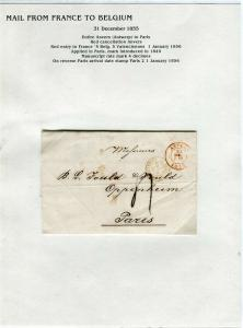 FRANCE Early Incoming LETTER/COVER 1855 fine used item Anvers - Paris