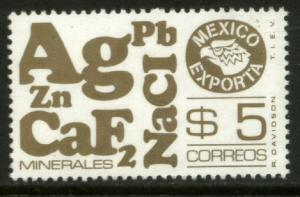 MEXICO Exporta 1173, $5P Minerals Wmkd Fosfo Paper 2 MINT, NH. VF.