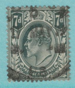 Great Britain Stamp Scott #150, Used, 1911 4p Edward VII - Free U.S. Shipping...