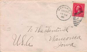 Philippines, Scott #214 Used on 1900 Cover from Manila to Waucoma, Iowa