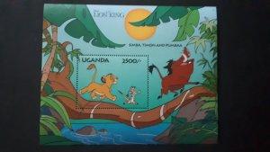 Disney - Uganda 1994. - Lion King ** MNH Block