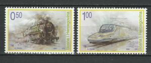 Bosnia and Herzegovina 2006 Trains Locomotives / Railroads 2 MNH stamps