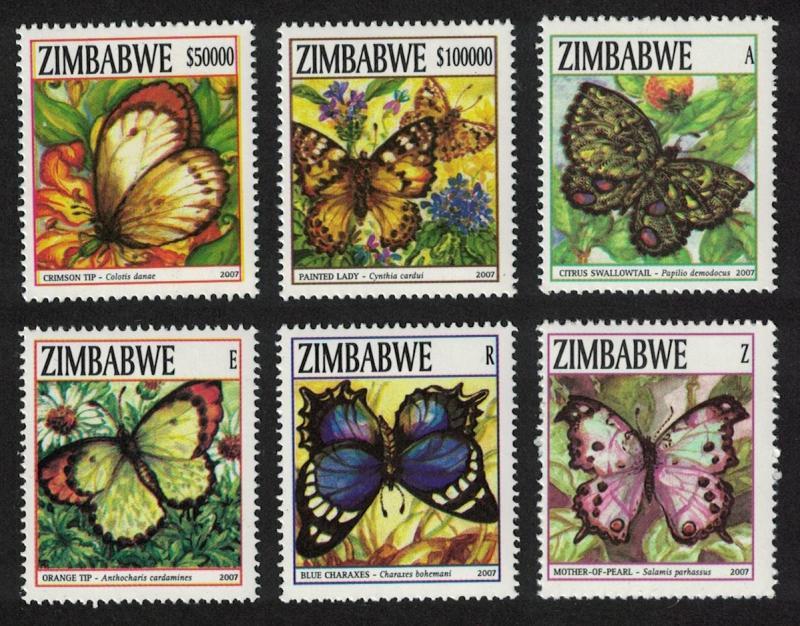 Zimbabwe Butterflies 6v SG#1234-1239