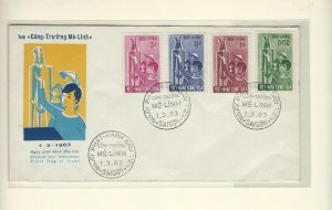 South Vietnam  FDC 1963 Trung Sisters