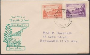 NORFOLK IS 1948 ½d & 2d Ball Bay on FDC.....................................D756