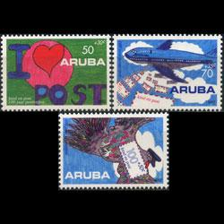 ARUBA 1992 - Scott# B29-31 Postal Services Set of 3 NH