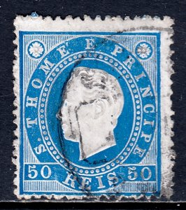 St. Thomas and Prince Islands - Scott #20 - Used - SCV $2.50