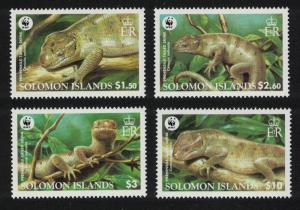 Solomon Islands MNH 1035-8 Prehensile-tailed Skink WWF 2005