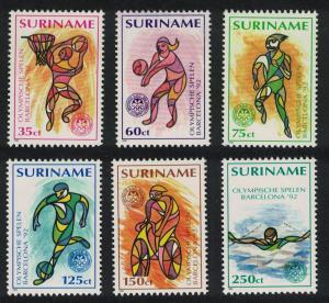 Suriname Football Volleyball Basketball Swimming Olympic Games Barcelona 6v