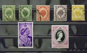 2712   Malaya - Kedah   MH/Used, VF   # 25, 27-30, 55, 82          CV$ 4.50