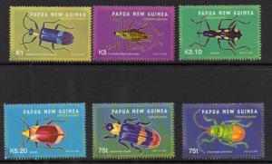 PAPUA NEW GUINEA SG1091/6 2005 BEETLES   MNH