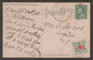 US Sc WX5, 331 on embossed New Year's Wishes PPC