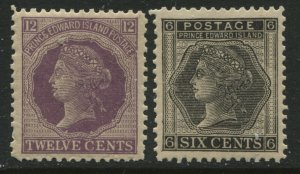Prince Edward Island QV 1872 6 and 12 cents unmounted mint NH
