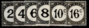 TRINIDAD & TOBAGO GVI SG D26-32, short set, NH MINT. Cat £32.