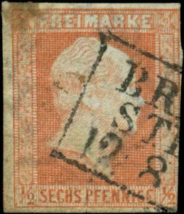 German States, Prussia Scott #2 Used
