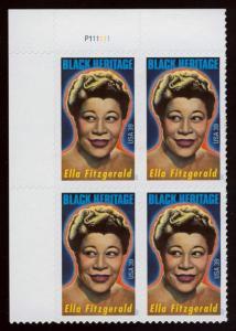 4120 Ella Fitzgerald Plate Block Mint/nh FREE SHIPPING