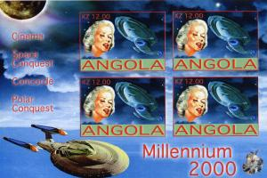 Angola 2001 Marilyn Monroe/Coll.Shlt Imp.Space/Millenium