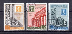 San Marino 439-441 used