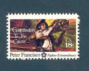 1562 Peter Francisco US Single Mint/nh (Free Shipping)