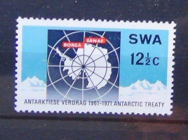 South West Africa 1971 10th Anniversary of Antarctic Treaty MNH